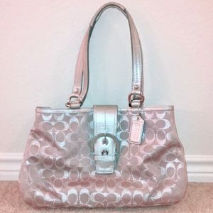 gently used Coach Signature Tote